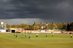 Cricketers of the Apocalypse - the rain clouds move in