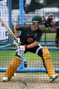Tim Paine in the nets