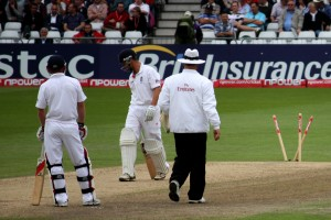 Trott's shattered stumps