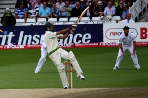 Umar Gul hits it for 6