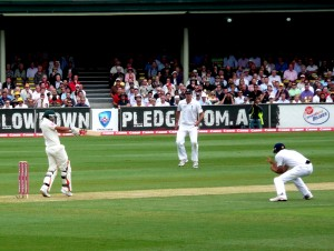Usman Khawaja on debut at the SCG