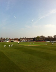 Leics play Cambridge under blue skies