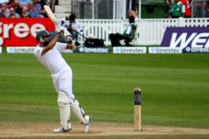 Hashim Amla in action at the Oval