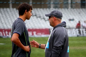 Agar and Lehmann before start of play